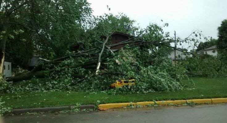Was it a tornado? Brandon, Wis. damaged by storm