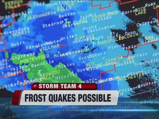 Reports Some Experience Frostquake Tuesday Night Tmj4