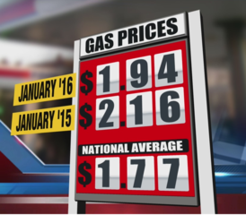 Gas prices fall across the region
