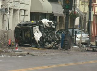 Car plows into businesses in downtown Racine