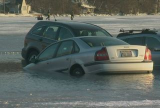 Gallery: Cars fall through ice at Winterfest