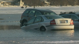 No tickets issued after cars break through ice