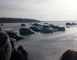 Owners assess damage after cars plunge into lake