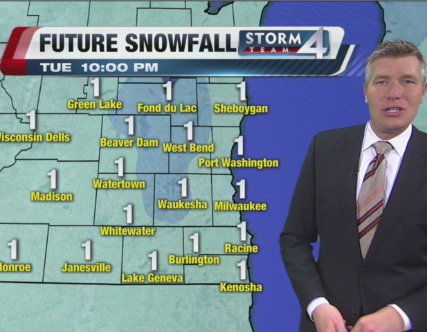 Expect light snow, drop in temps
