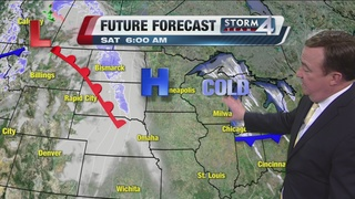 Cold front moves in Friday night