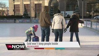People brave cold in the name of fun