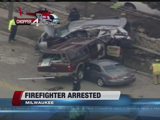 Firefighter arrested for deadly 3-car wreck