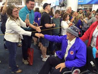 Stars and Stripes Honor Flight Homecoming