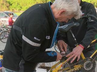 Volunteers fix up bikes for kids in need