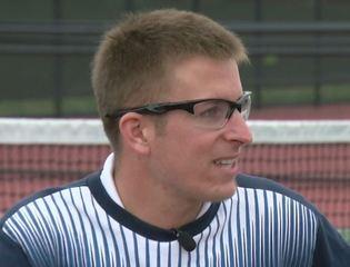 Tennis player thrives, despite lack of sight