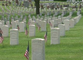 34,000 American flags placed at Wood Cemetery
