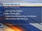 Call 4 Action: Food recalls