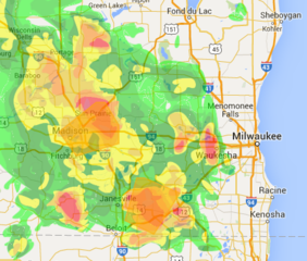 Check the radar as storms roll through