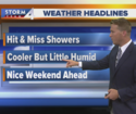 Cool down, hit-and-miss storms Thursday