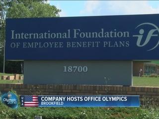 Brookfield business hosts 'Office Olympics'