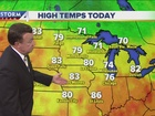 Sunny, cooler and much lower humidity