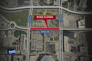 Portion of Juneau Ave. to close for arena work