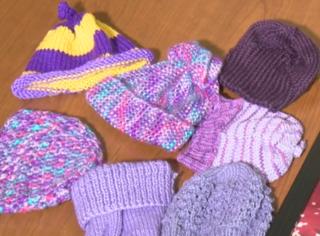 Tiny purple caps spread awareness of abuse