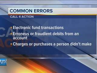 Call 4 Action:Common banking, credit card errors