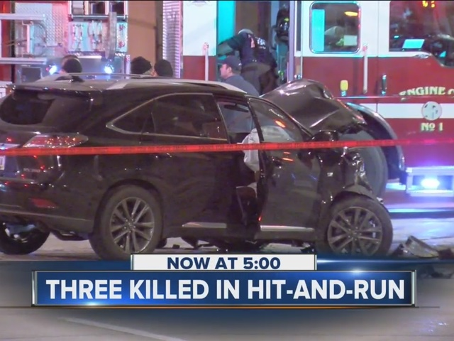 Three killed in hit-and-run crash Sunday morning