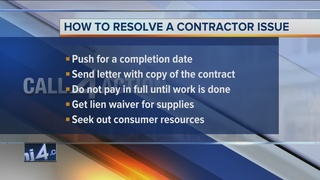 Call 4 Action: How to resolve a contractor issue
