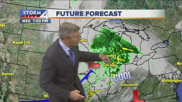 Rainy, windy and chilly Wednesday
