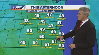 Rain exits, winds stay strong Thursday
