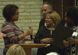 Formerly homeless MKE woman honored