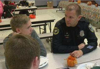 MPD officers host Thanksgiving dinner