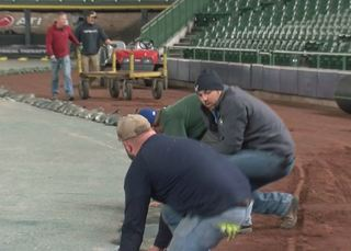 What happens to Miller Park in the winter?