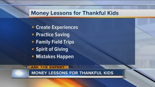 Ask The Expert: Money lessons for thankful kids