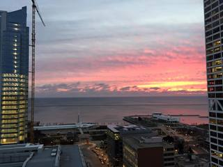 Sunrise from on top of the WI Gas building