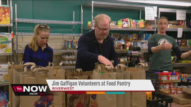 Comedian Jim Gaffigan Working To Raise Money At Milwaukee Food Pantry    TMJ4 Milwaukee, WI