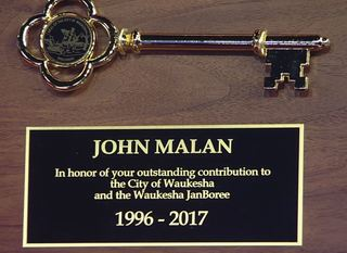 John Malan receives key to the city of Waukesha