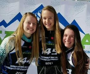 Tosa West triplets all make state skiing contest