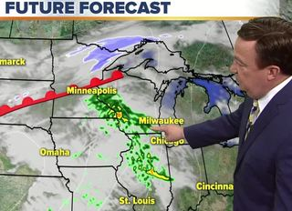 Showers taper off Tuesday morning