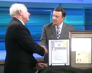 Mayor Barrett honors Malan with proclamation