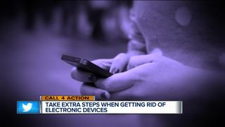 Call 4 Action: Steps when disposing electronics