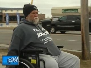 Man's journey to Lambeau in wheelchair nears end