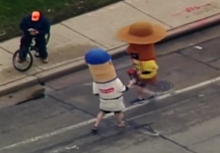 Racing Sausages deliver 'first brat' in relay