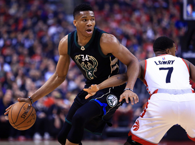 Antetokounmpo jumps up for Bucks