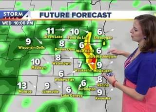 Warm but stormy Wednesday