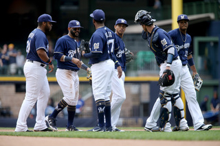 Brewers lead NL Central after Wednesday win