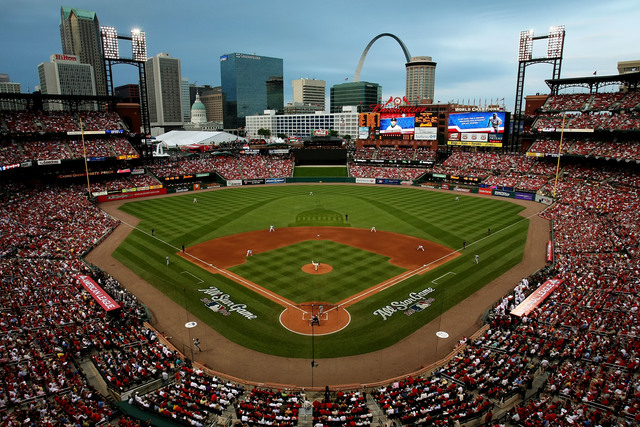 Woman hit by stray bullet during Cardinals game