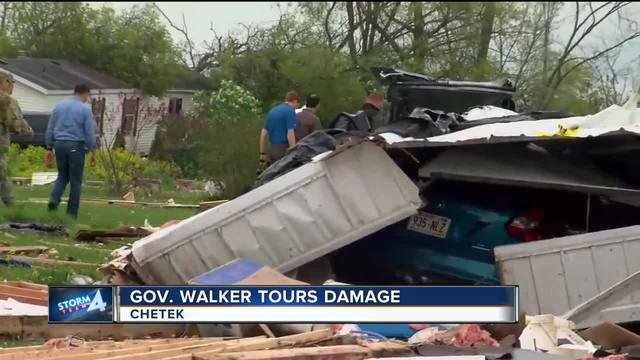 Tornado-ravaged trailer park residents sift through debris