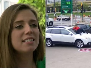 Woman who stopped car thief: He laughed at me