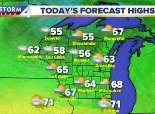 Breezy Tuesday with afternoon sct'd showers