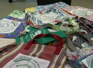 Shorewood group making reusable grocery bags