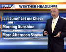 Cooler Sunday w/ scattered afternoon showers