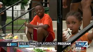 Free summer playground program in Milwaukee